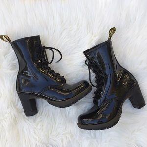 Dr Martens Darcie Patent Leather Heels Boots 6L